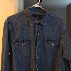 Polo Ralph Lauren Denim Western Button Up Shirt